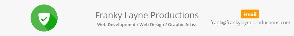 Franky Layne Productions Web Design